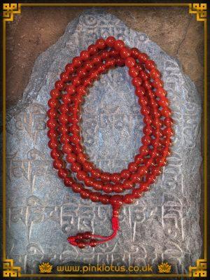 Carnelian Tibetan Buddhist Prayer Mala