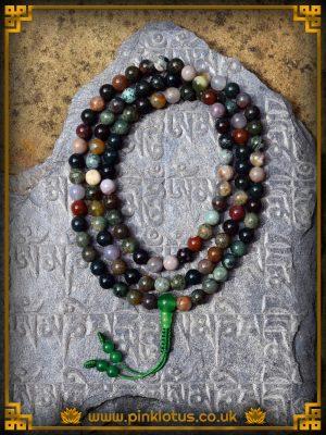 Tibetan Buddhist Jasper Prayer Mala