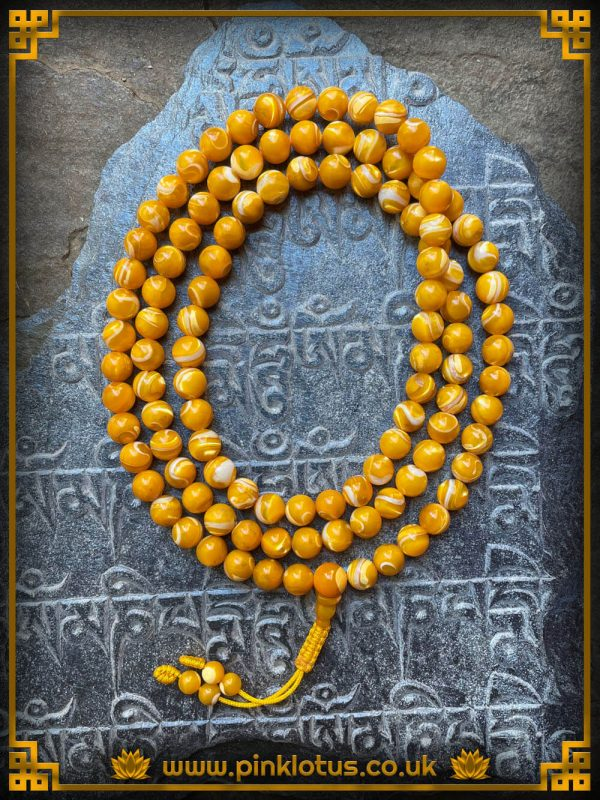 Mother of Pearl Tibetan Buddhist Prayer Mala