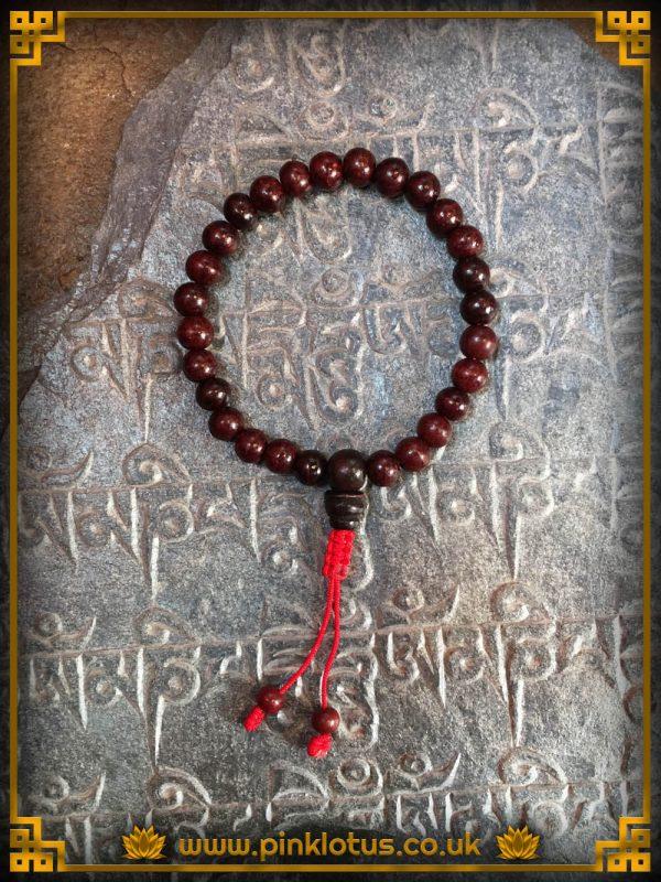 Rosewood Tibetan Buddhist Prayer Mala 108 Beads