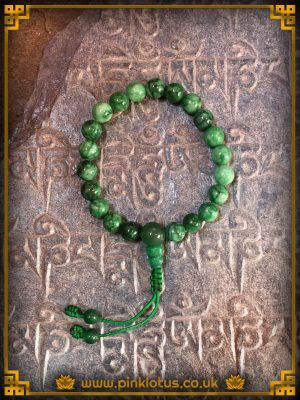 Jade Tibetan Buddhist Prayer Mala 108 Beads