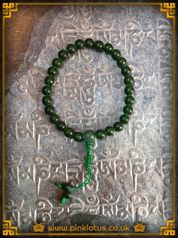 Jade Tibetan Buddhist Prayer Mala 27 Beads