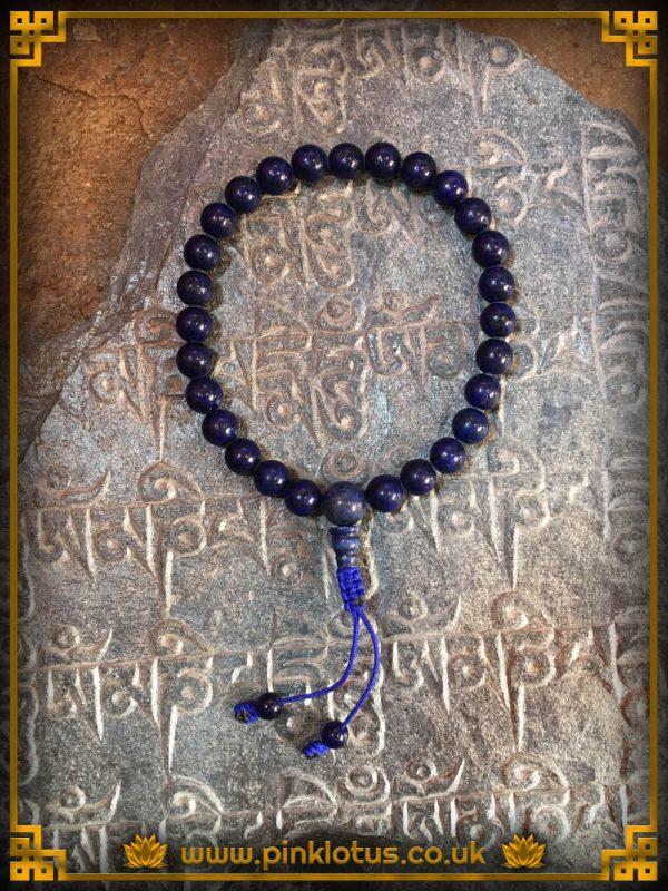 Lapis Tibetan Buddhist Prayer Mala 108 Beads