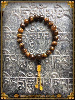 Tiger eye Tibetan Buddhist Prayer Mala Beads
