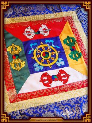 Tibetan Buddhist Altar Cloth Dharmachakra Dorje