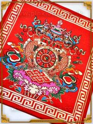 Tibetan Buddhist Altar Cloth Eight Auspicious Symbols