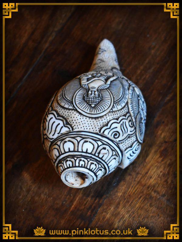 Tibetan Buddhist carved Conch Shell