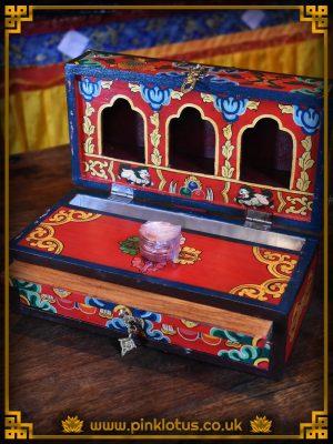 Tibetan Buddhist Travelling Altar Shrine Box