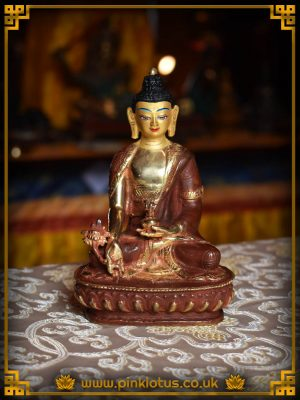 Medicine Buddha Copper Gold Tibetan Buddhist Statue Rupa