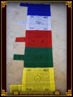 Mixed Tibetan Buddhist Polyester Prayer Flags