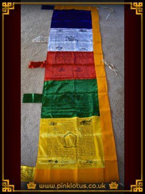 Mixed Tibetan Buddhist Silk Prayer Flags