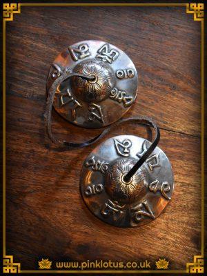 Tibetan Buddhist Tingsha Cymbals Om Mantra