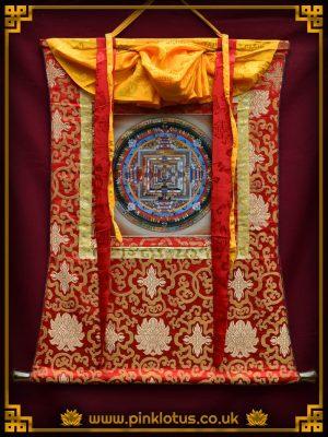 Kalachakra Mandala Tibetan Buddhist Thangka Brocade