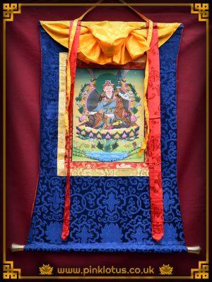 Guru Rinpoche Padmasambhava Tibetan Buddhist Thangka Brocade