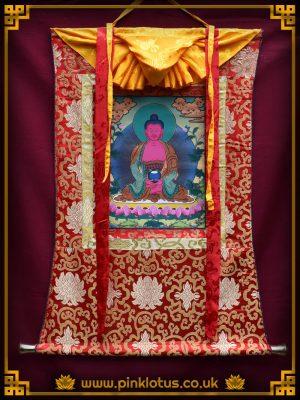 Amitabha Tibetan Buddhist Thangka Brocade