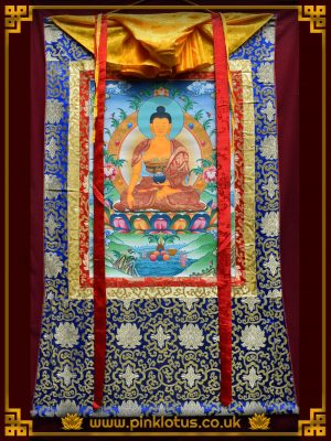 Shakyamuni Tibetan Buddhist Thangka Brocade