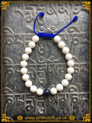 Conch Lapis 21 Bead Mala Bracelet